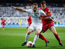 Real Madrid will have to manage without Carvajal in the first game against PSG. EFE/Archivo