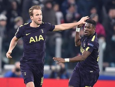 Kane scored Tottenham's first goal to get them back in the tie. EFE