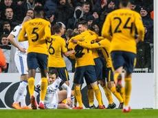 El Atlético sentenció la eliminatoria en Copenhague. EFE