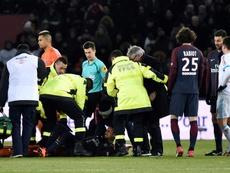 La primera lesión, motivo de discordia PSG-Neymar. EFE
