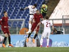 Romagnoli convirtió el penalti decisivo del Milan. EFE