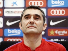 Valverde defended Dembele's perfomance against Espanyol. EFE
