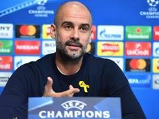 Guardiola dejó una frase polémica en rueda de prensa. EFE