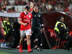 Salvio cumple contrato con el Benfica en junio de 2019. EFE/Archivo