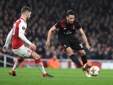 Galatasaray pergunta por Mustafi. EFE/Facundo Arrizabalaga