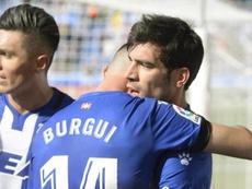 Burgui debutó en la presente temporada. EFE/Archivo