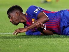 Dembelé tem sido apontado à saída do Barcelona. EFE