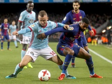 Lobotka in actin against Barcelona. EFE