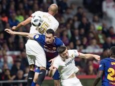 Les compos probables du match de Coupe du Roi entre Séville et le Barça. EFE