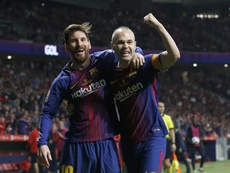 Iniesta spoke about Messi's genius. EFE