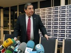 Lendoiro pidió justicia a Rubiales. EFE
