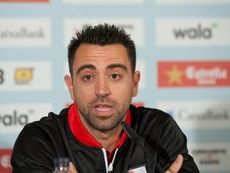 Xavi spoke about Arthur and Barca's development of talent. EFE