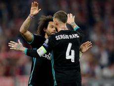 Ramos e Marcelo: um mal-entendido e um abraço