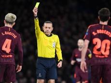 El colegiado que dirigió la debacle en Anfield será el árbitro del Barça-Nápoles. EFE