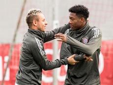 Bayern Múnich Rafinha e David Alaba. EFE/Archivo