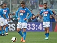 El Nápoles querría retirar la cláusula de rescisión del delantero. EFE/EPA
