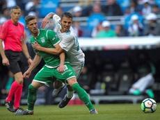 El centrocampista vio la roja ante el Getafe. EFE