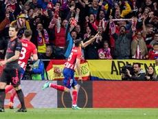 Una pancarta del Frente Atlético, el desencadenante. EFE
