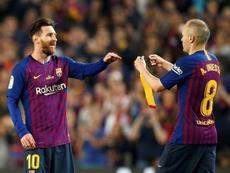 Iniesta repasó su carrera como jugador del Barcelona. EFE
