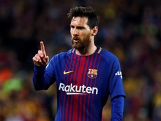 Messi, hombre récord en el Barcelona y en la Liga. EFE