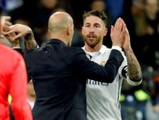 Zidane aprueba que Ramos vaya a los Juegos Olímpicos. EFE/Archivo