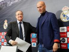 Ambos coincidieron en la foto oficial del equipo. EFE