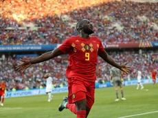 Lukaku marcó dos goles a Panamá. EFE