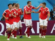 Los suplentes de Rusia golpean fuerte en San Marino. AFP