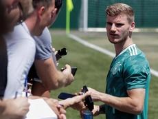 Werner fez seu primeiro treino no Chelsea. EFE