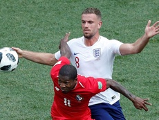 Jordan Henderson in World Cup action against Panama. EFE