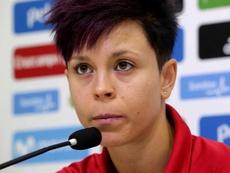 Amanda Sampedro cree que el Atleti puede mejorar lo del año pasado. EFE/Archivo
