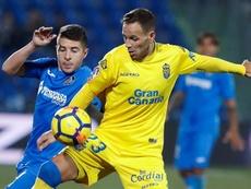 Javi Castellano se perdió el choque en La Coruña. EFE