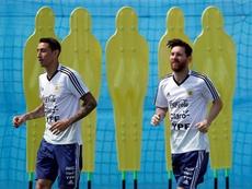 Di María habló sobre la decisión de Messi. EFE
