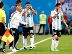 Para Sampaoli os argentinos não sabem desfrutar de Messi. AFP