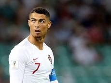 Cristiano est bien présent avec le Portugal. AFP
