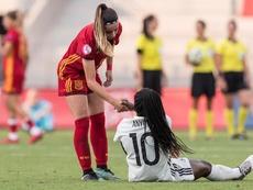 Athenea del Castillo (i) podrá jugar esta próxima jornada. EFE/Archivo