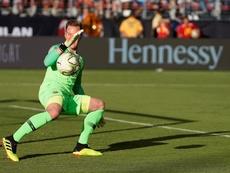 Ter Stegen recibió otra vez un gol de un equipo entrenado por Berizzo. EFE