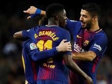 O Barça bateu o Valladolid pela margem mínima. EFE