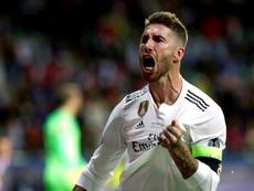 Ramos adelantó al Madrid de penalti. EFE