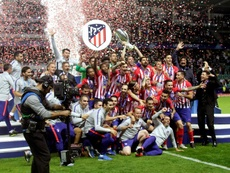Atletico lifted the UEFA Super Cup on Wednesday after beating rivals Real Madrid. EFE