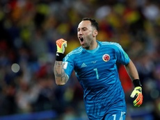 David Ospina will continue to play at Napoli next season. EFE/Archivo