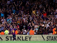 Rendidos a Messi. EFE