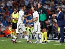 Real Madrid Luka Modric  e Dani Ceballos. EFE