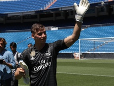 Lunin, prêt à revenir au Real Madrid. EFE