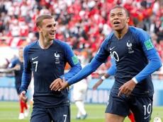 A lista de convocados da França. EFE