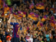 Non, le Barça n'a pas contacté Iniesta cet hiver. EFE