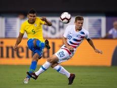 Casemiro lucirá el brazalete de capitán ante la República Checa. EFE