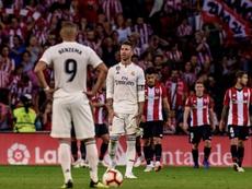 El Real Madrid no pasó del empate ante el Athletic. EFE