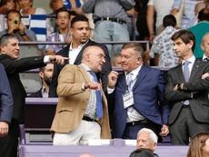 Ronaldo presenció su primer partido desde el palco de Zorrilla. EFE
