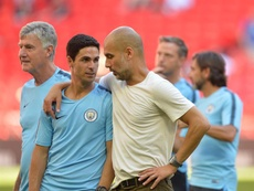 Guardiola and Arteta have a close relationship. EFE/Archivo
